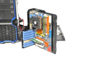 Mobo tray front