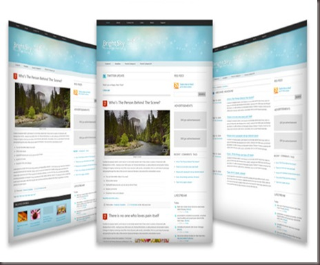 Bright Sky WordPress Theme