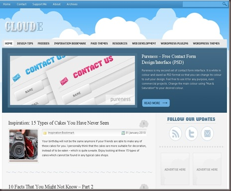 Cloude WordPress Theme