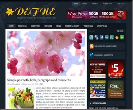 Defne WordPress Theme