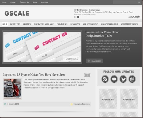 G-Scale WordPress Theme