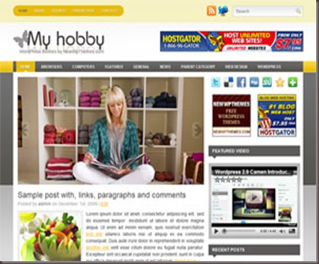 MyHobby WordPress Theme