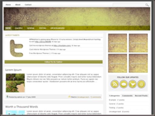 Old70 WordPress Theme