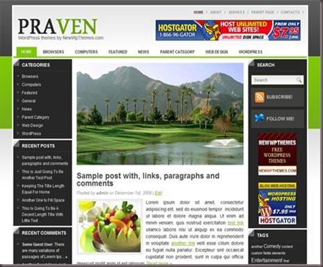 Praven WordPress Theme