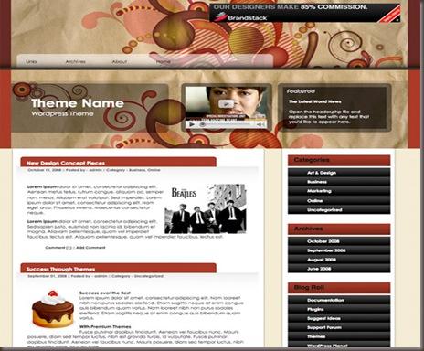 Premium Swirl WordPress Theme