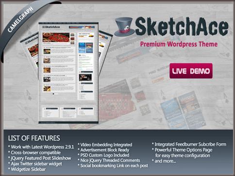 Sketch Ace WordPress Theme
