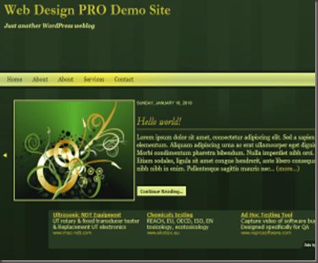 TNT Dark Green Golden Temptation WordPress Theme