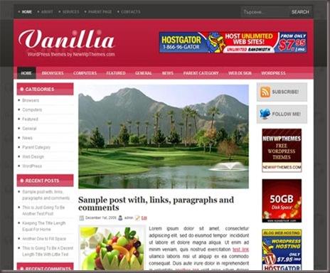 Vanillia WordPress Theme