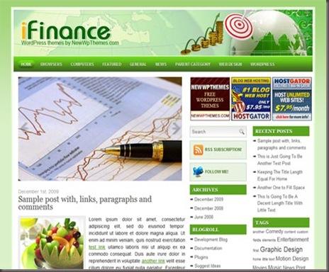 iFinance WordPress Theme