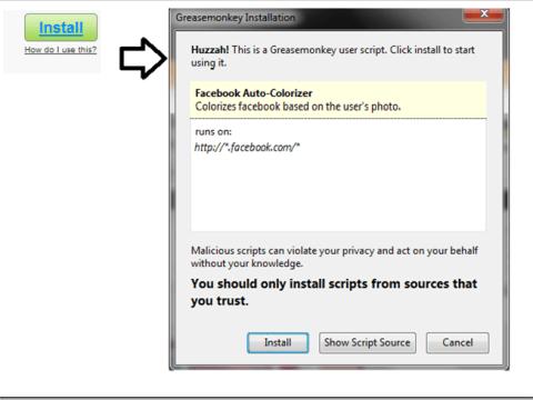 Install usercript