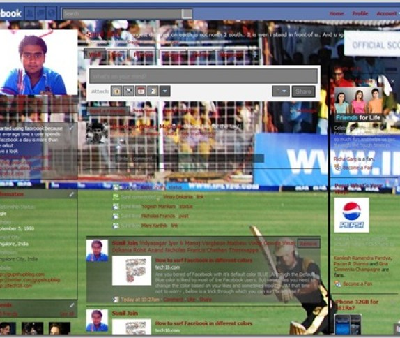 facebook IPL theme