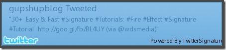 Twitter Signature Default Style