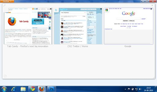 Firefox 4 Tab Candy