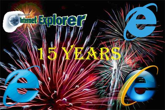 Internet Explorer 15th birthday