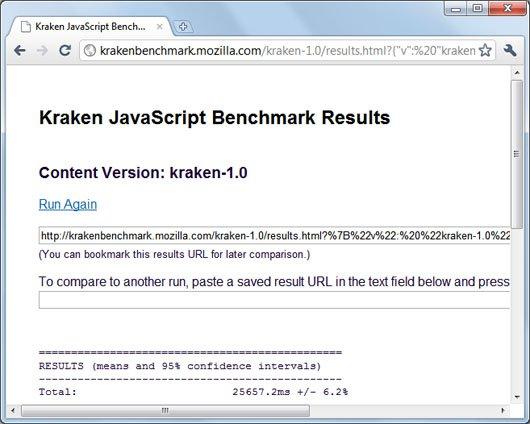 Chrome 7 kraken javascript benchmark