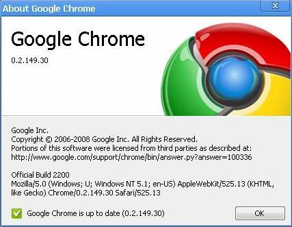 Google Chrome 0.2.1493