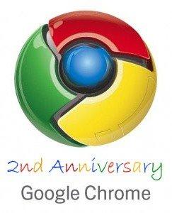 Google Chrome 2nd anniversary