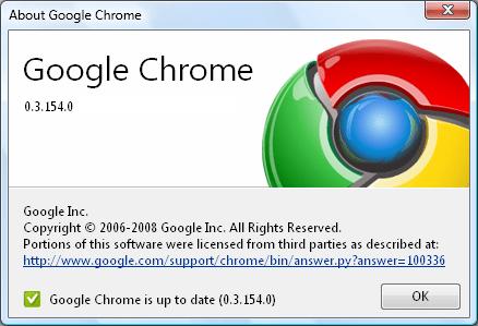 Google chrome 0.3.154