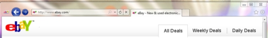 Internet explorer 9 Firefox like buttons