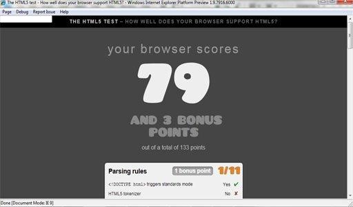 Internet Explorer 9 HTML 5 Test
