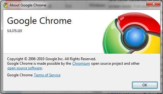 google chrome 5.0.375