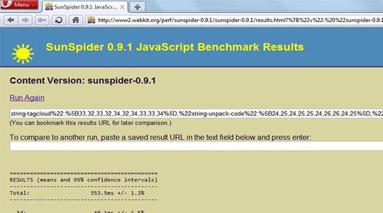 opera 10.70 sunspider javascript benchmark