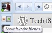 rockmelt browser facebook favorite friends or all friends list