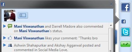 rockmelt browser facebook notifications