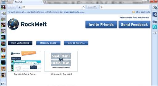 rockmelt browser window