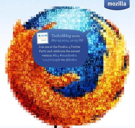 Firefox 4 Twitter Party