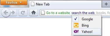 firefox awesomebar search on web