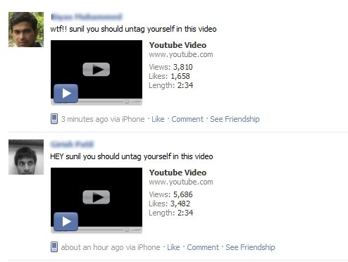 facebook youtube spam