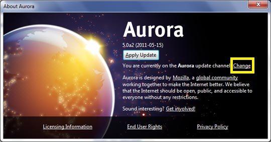 firefox aurora channel switcher