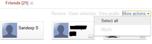 google+ circle select option
