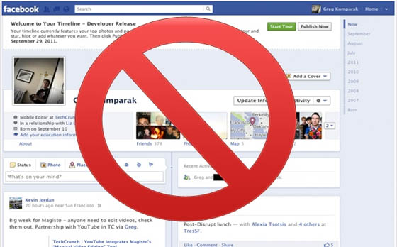 Disable or Deactivate Facebook Timeline