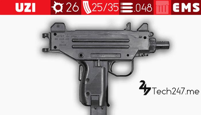 سلاح UZI في لعبة ببجي - لعبة PUBG