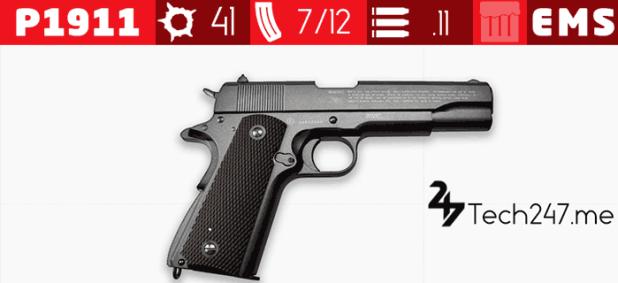 سلاح P1911 في لعبة ببجي - لعبة PUBG