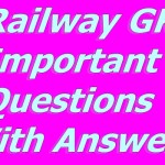 Railway Important Questions With Answers PDF File – RRB ALP, Group – D – in hindi