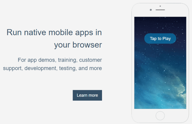 run ios apps on android appetize