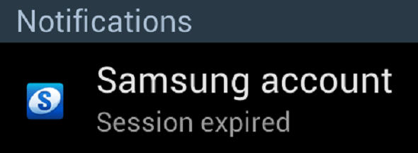Samsung account session expired