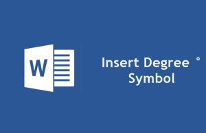 Degree Symbol in Microsoft Word