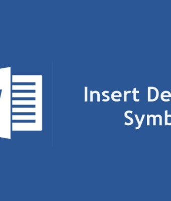 Degree Symbol in Microsoft Word