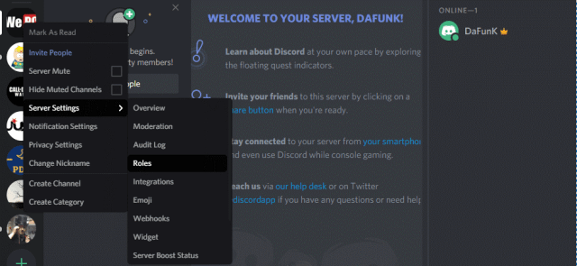 how to add roles in Discord 1