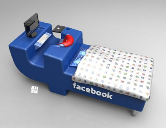 Facebook Bed - Comfort Networking for sure!