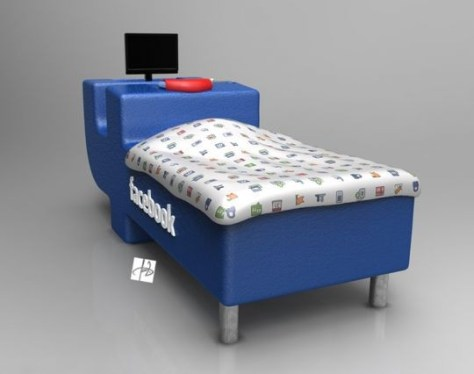 Facebook Bed - a must have for Facebook addicts