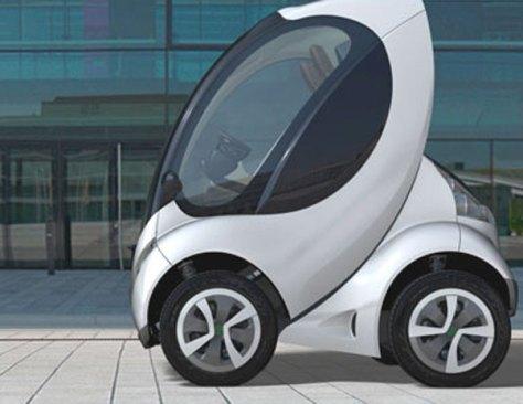 The Hiriko electric car can fold itself