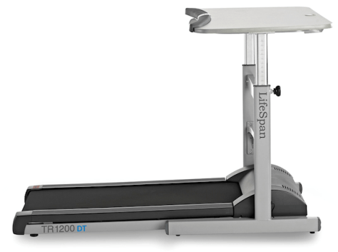 treadmill desk allows you to work out even in your office!