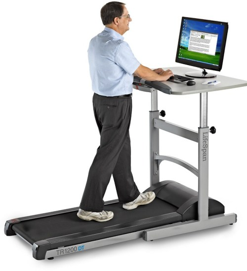 treadmill desk is an excellent idea to workout regularly at work!