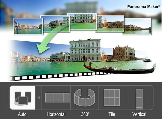 Panorama maker software editing