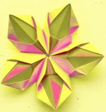 Origami Flower (Tomoko Fuse) squares, 5 units, no glue